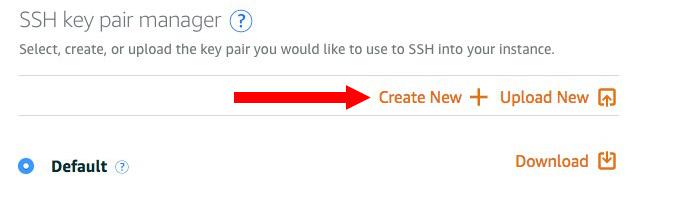 새로운 SSH key 생성
