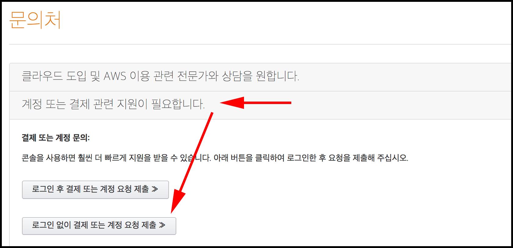 아마존 웹 서비스 문의처