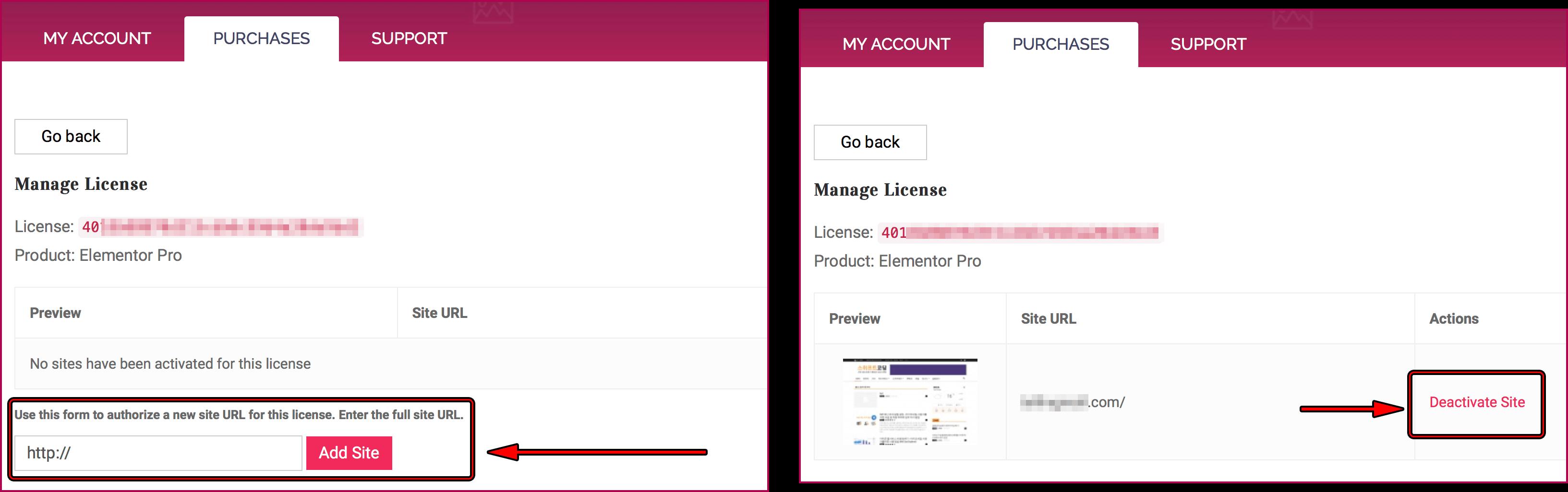 도메인 작성 후 add site