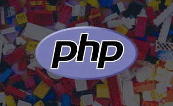 레고블록을 배경으로한 php 로고