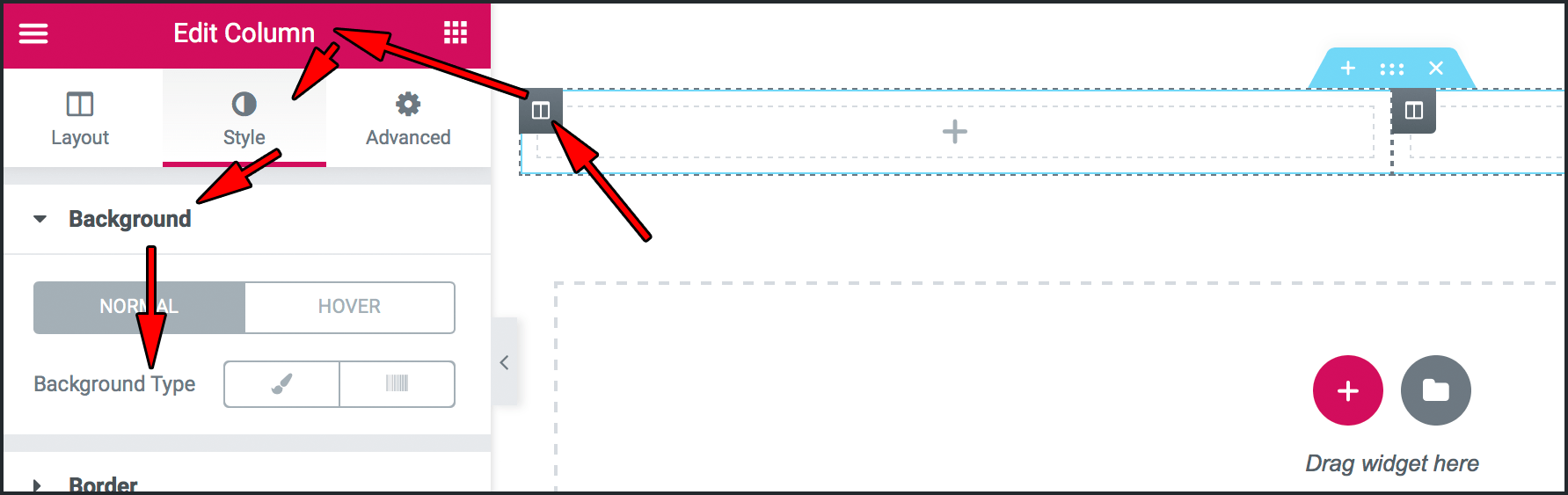 Edit Column 패널
