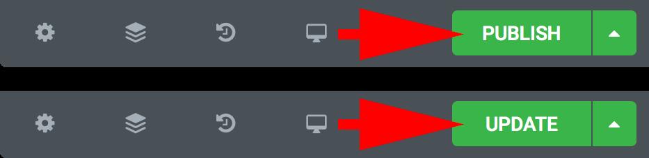 하단툴바의 PUBLISH 또는 UPDATE 버튼