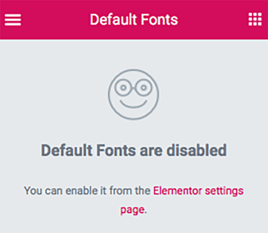 Default Fonts are disabled 라고 쓰여짐