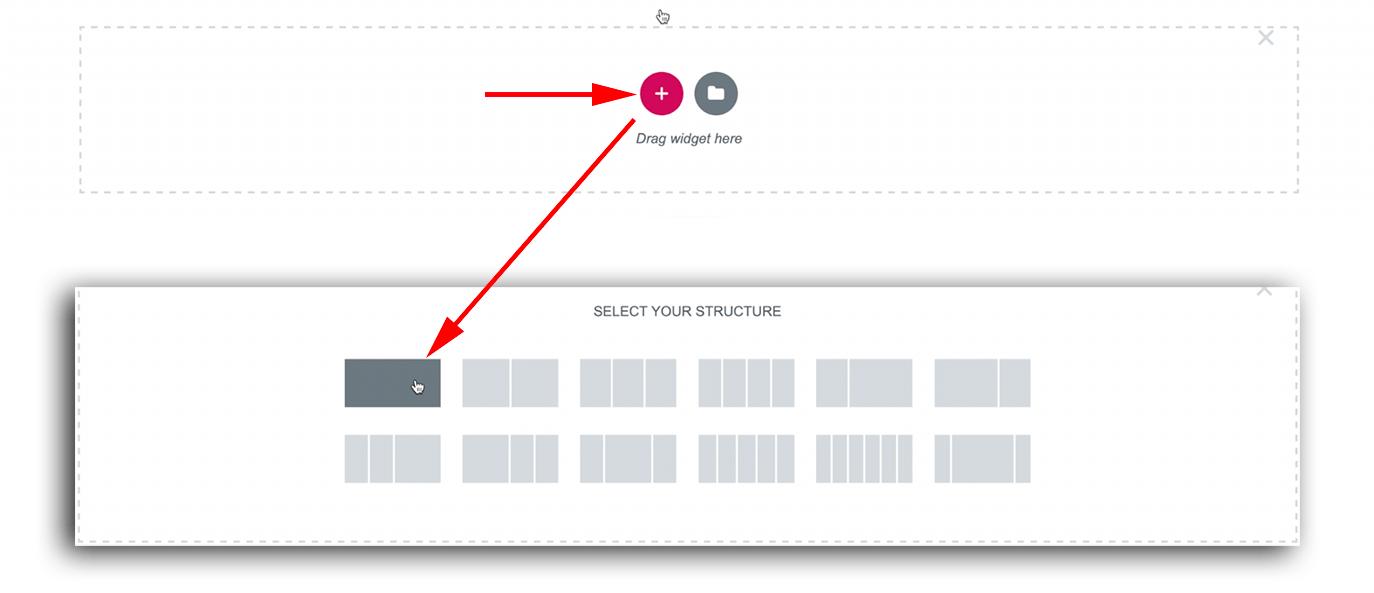 Add a section 버튼으로 칼럼 추가