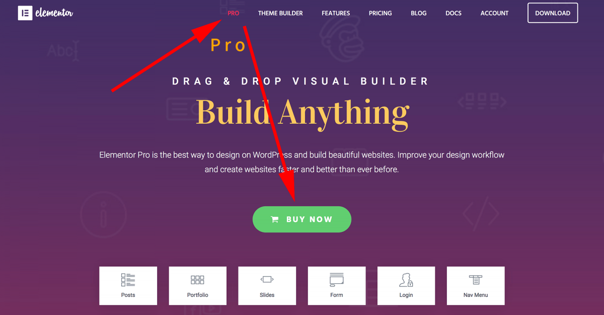 Build Anything 이라고 써있다