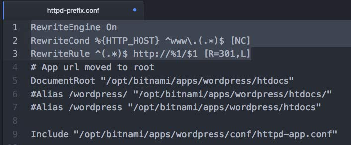 httpd-prefix.conf 파일을 수정해서 리다이렉션