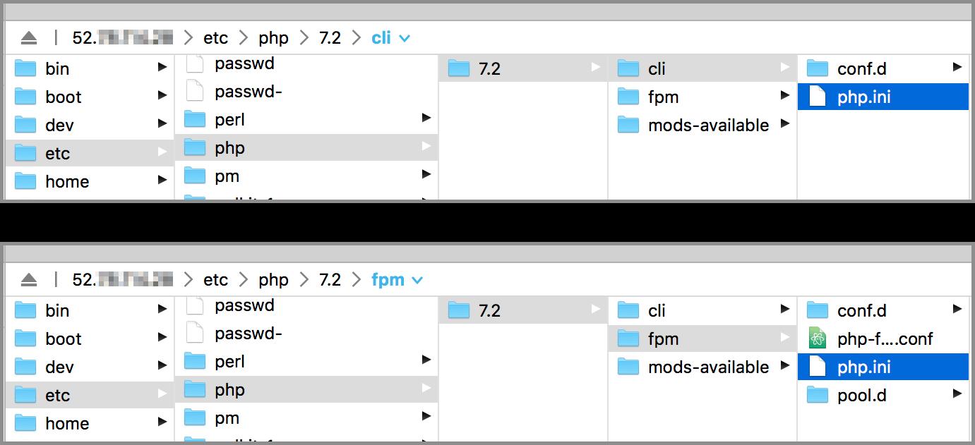 FTP로 찾아본 php.ini 파일 위치