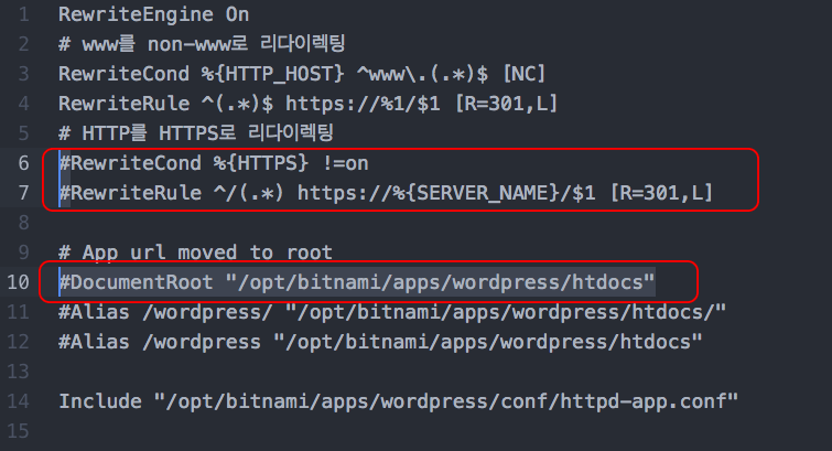 httpd-prefix.conf 파일 수정