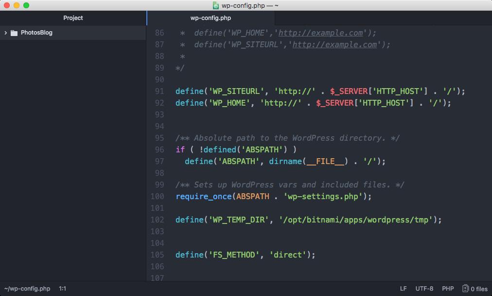 Atom 코드 편집기화면