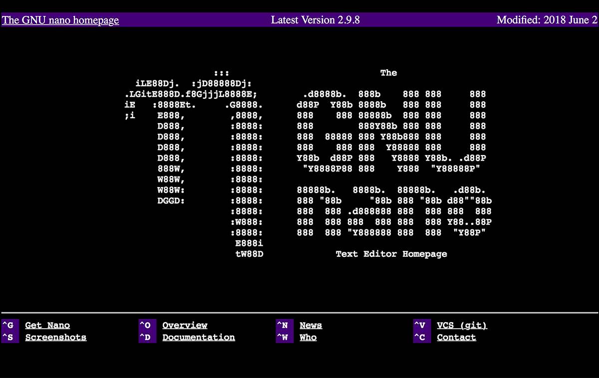 그누 로고가 ASCII 텍스트로 그려져있ㄷ
