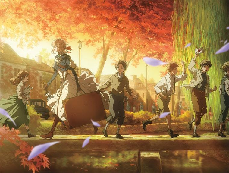 꽃잎이 흩날리는 가을 초입, 아이들이 무리지어 다리위를 지나가는 가운데 바이올렛이 반대방향으로 뛰고있다. 한손에는 그녀의 여행가방이 들려있다