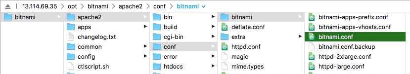 bitnami.conf 파일위치