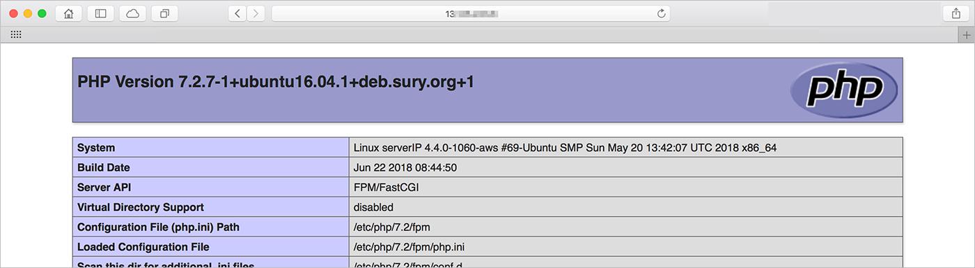 php 정보들이 나열되어있는 표
