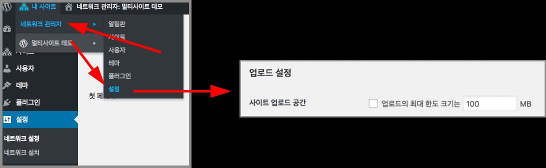 워드프레스 멀티 사이트 서버 업로드 파일 설정